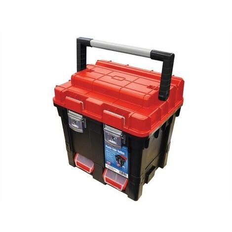 Faithfull FAITB17 Plastic Cube Toolbox - 2 Trays 17in Deep