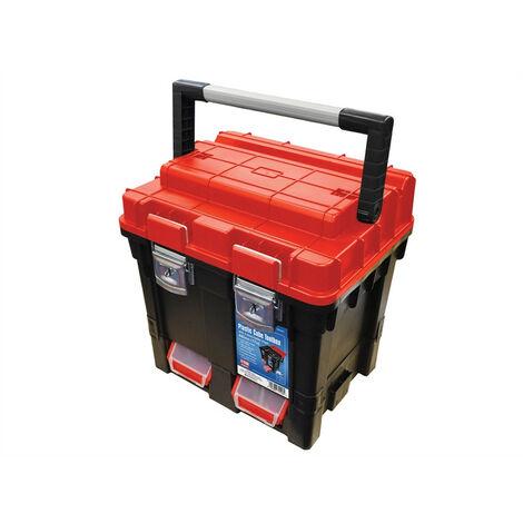 Faithfull FAITB17 Plastic Cube Toolbox - 2 Trays 44cm (17in) Deep