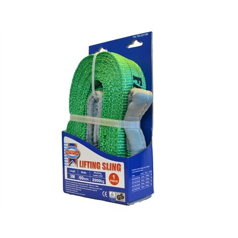 Faithfull FAITDLS2T3M Lifting Sling Green 2 Tonne 60mm x 3m