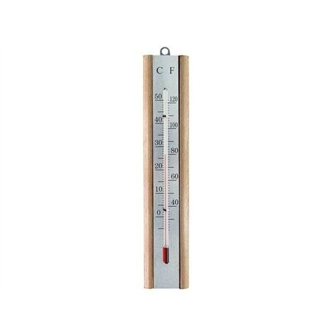 Faithfull FAITHBEECH Thermometer Wall Beech Silver 200mm