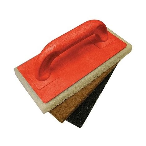 Faithfull FAITLSCOUR3 Scouring Pad Holder + Fine Medium & Coarse Pads