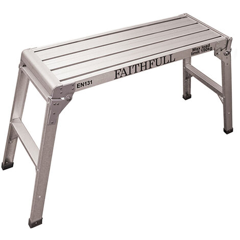 Faithfull Fold Away Step Up Aluminium L100 x H52 x W30cm