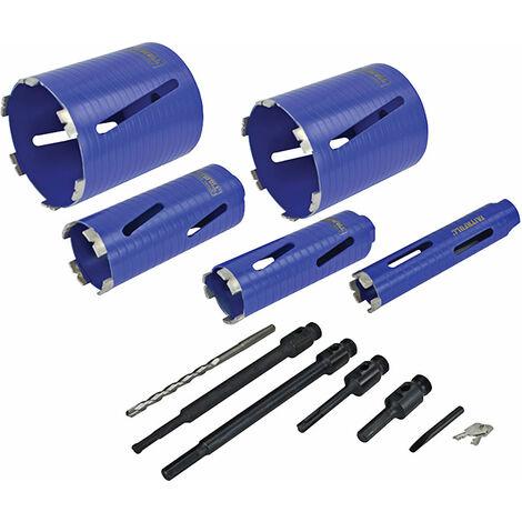 Faithfull HF11PSA Diamond Core Drill Kit & Case Set of 11