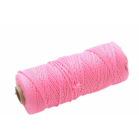 Faithfull Hi-Vis Nylon Brick Lines - 105m Pink