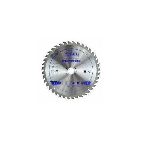 FAITHFULL LAME DE SCIE CIRCULAIRE CARBURE DE TUNGSTÈNE 150 X 20 X 40T