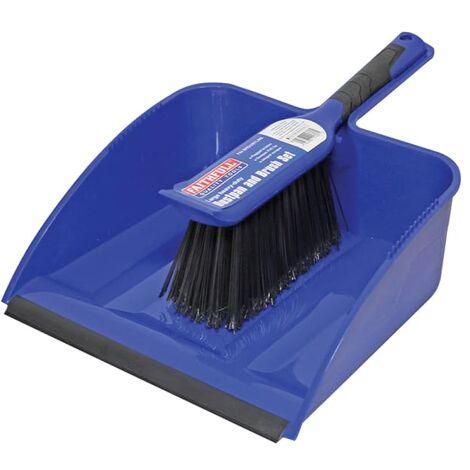 Faithfull Large Plastic Dustpan & Brush Set