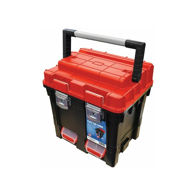 Image of Plastic Cube Toolbox - 2 Trays 44cm (17in) Deep ( TB17) - FAI