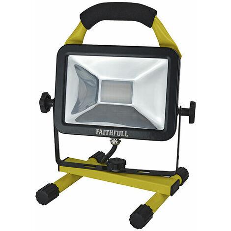 Faithfull Power Plus AST2320-110V SMD LED Pod Site Flood Light 20W1800 Lumens 110V