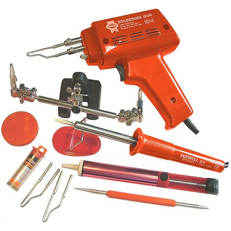 Faithfull Power Plus FPPSGKP SGKP Soldering Gun 100 Watt & Iron Kit 30 Watt 240 Volt