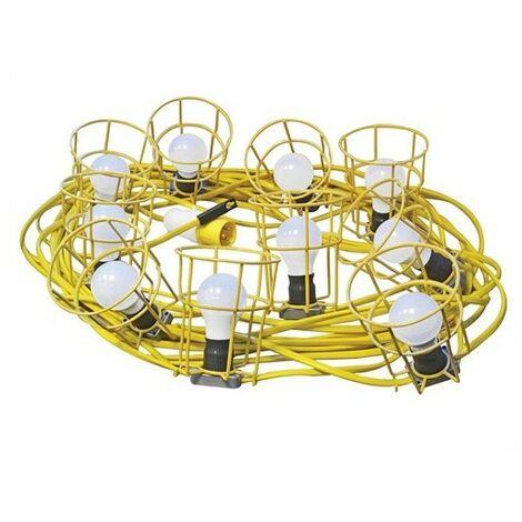 Faithfull Power Plus HL-03ES-22 Festoon Lights 22m 10 Bulbs 110 Volt