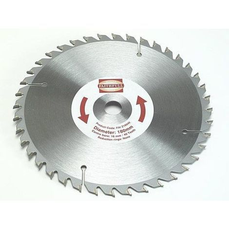 Faithfull Tct Lame scie circulaire 40 dents 180 x 30 mm