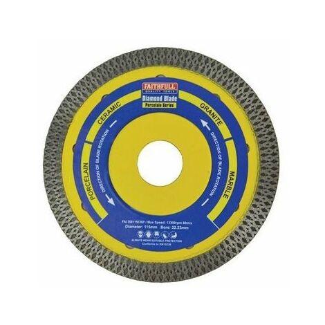 Faithfull TT1011522 PorcelainDiamondBlade115 x 22.23mm