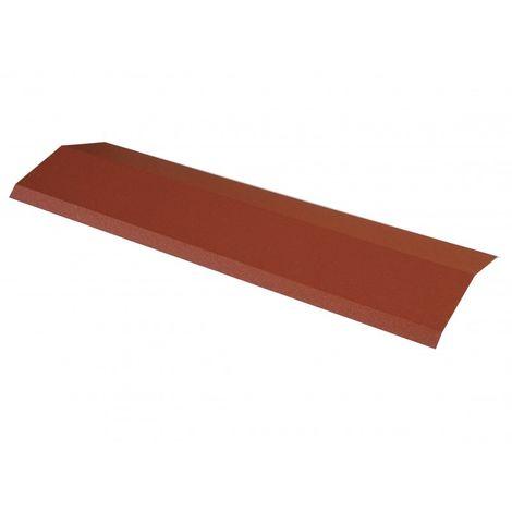 Faîtière 920 mm pour panneau tuile facile en acier galvanisé laqué mat
