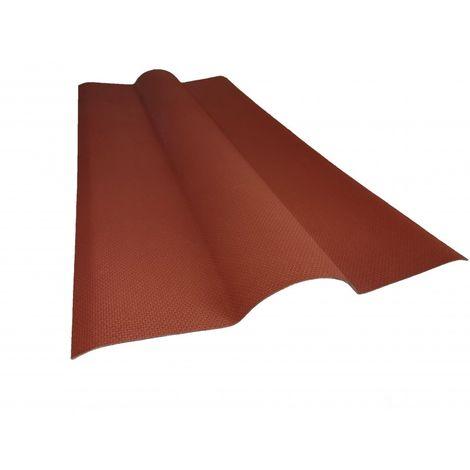 Faîtière bitumée pour toiture ondulée L 1 m / l 44 cm