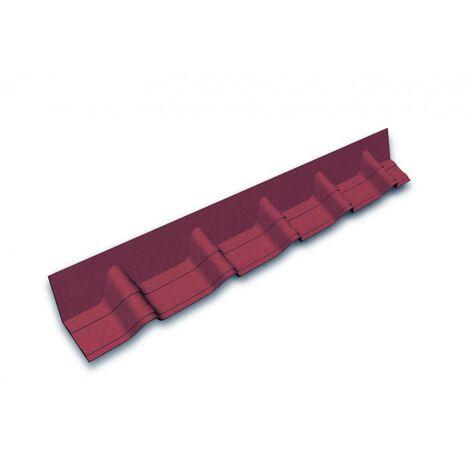 Faîtière contre mur pour tuile Onduvilla 1,02 m x 0,14 m Rouge ombré