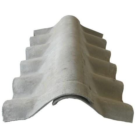 Faîtière couverture fibrociment - Coloris - Gris, Epaisseur - 30cm, Largeur - 30 cm, Longueur - 92 cm