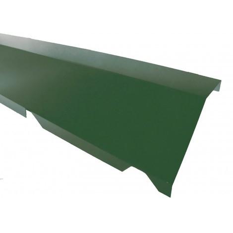 Faitière crantée sur mur pour bac acier 1045 - L 2100mm