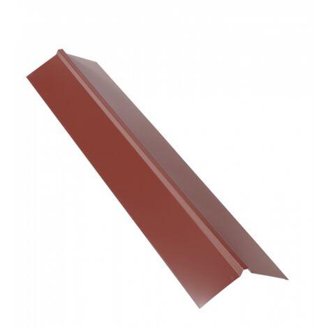 Faîtière double pan 1 m pour plaque nervurée acier laqué