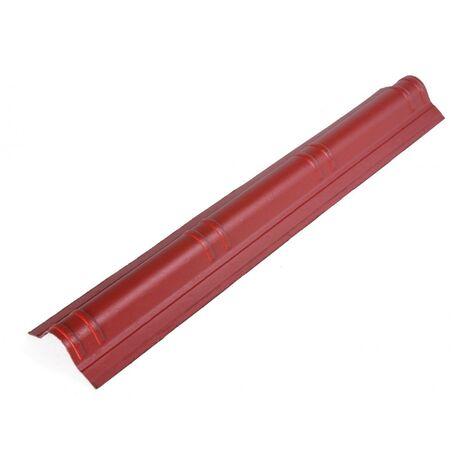 Faîtière mince 1,06 m x 0,194 m Rouge classique
