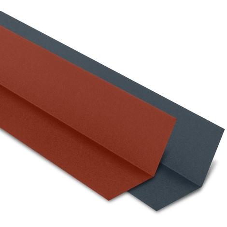 Faîtière Plate Contre Mur 2100 Mm Acier Mat Texturé Gris