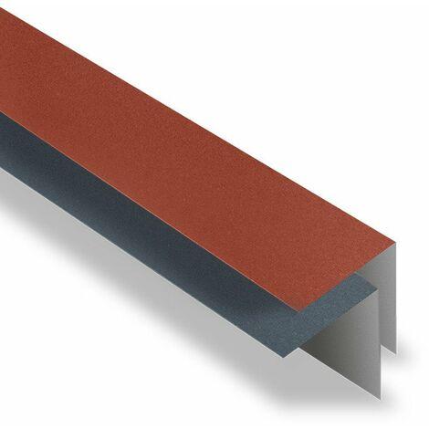 Faîtière Simple à Rabat 2100 mm Acier Mat Texturé