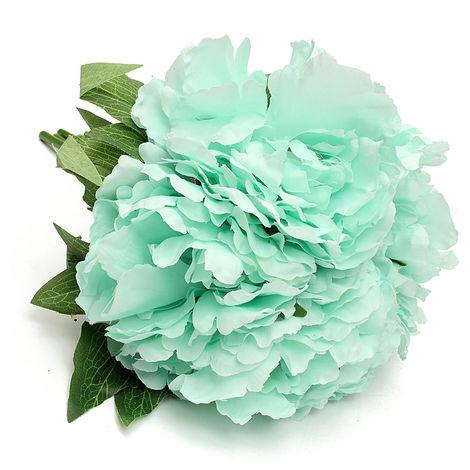 Fake Artificial Peony Silk Flower Bridal Bouquet Hydrangea Wedding Decoration Home C