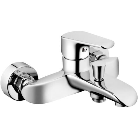 Fala Wall-Mounted Bath Tap Alicante Brass 75772 - Silver