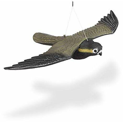 Falco Spaventapasseri Volante Riproduzione Realistica Multicolore