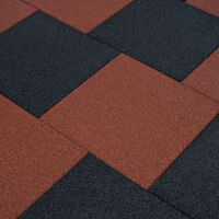 Fall Protection Tiles 12 pcs Rubber 50x50x3 cm Black