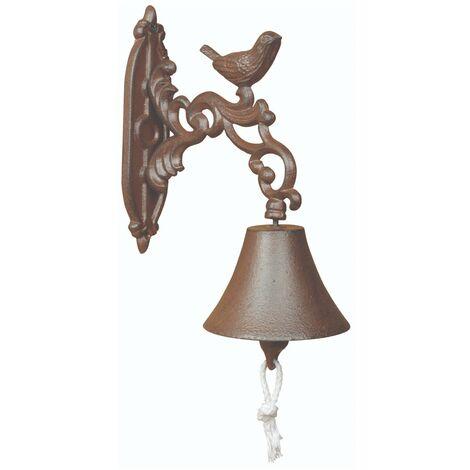 "main image of ""Fallen Fruits Cast Iron Hanging Wall Mounted Bird Door Bell Antique Style BR22"""