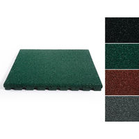 Fallschutzmatte Play Protect | Grün | 25 + 40 mm | 50x50 cm