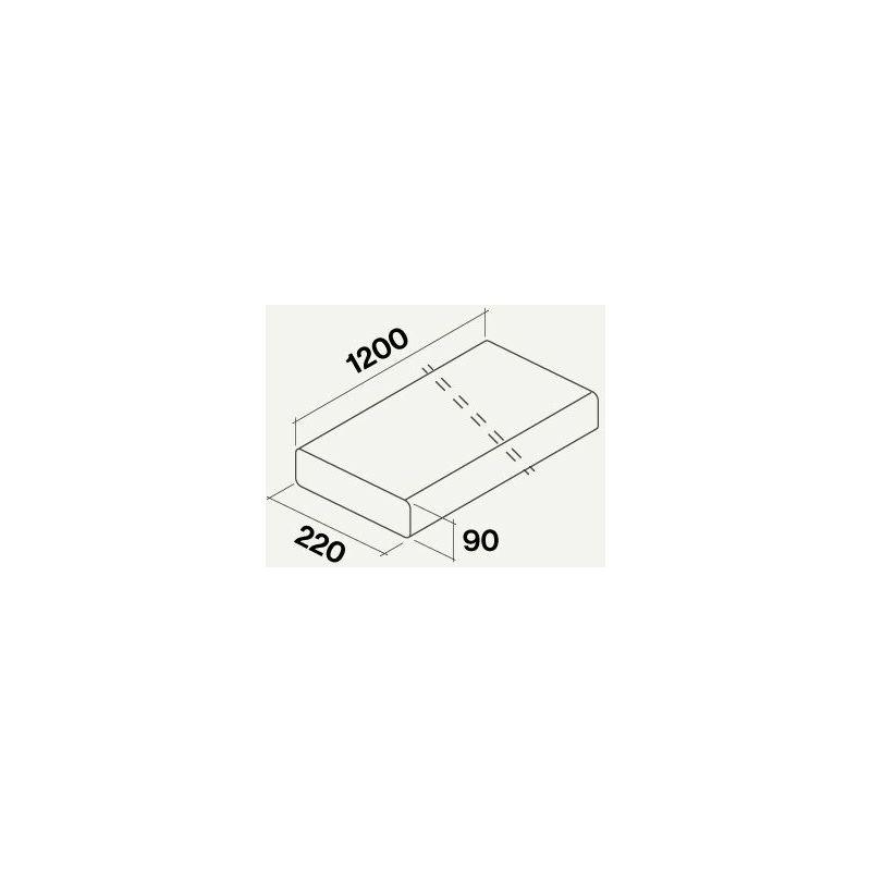 gaine plate rigide rectangulaire 1200 mm. | 220*90 - Falmec
