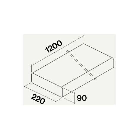 Falmec  gaine plate rigide rectangulaire 1200 mm.