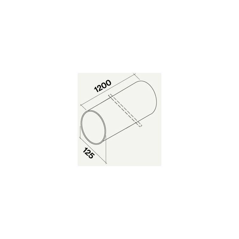 gaine ronde rigide 1200 mm. | ? 125 - Falmec