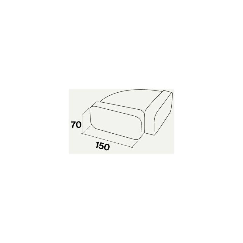 raccord horizontal pour gaine plate rectangulaire | ? 150 / 220*90 - Falmec