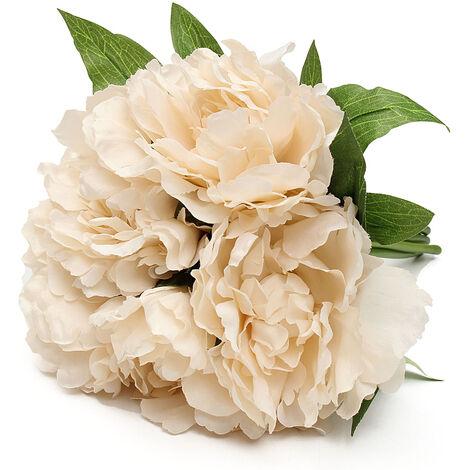 False Artificial peony silk flower bridal bouquet hydrangea wedding decoration home D Mohoo