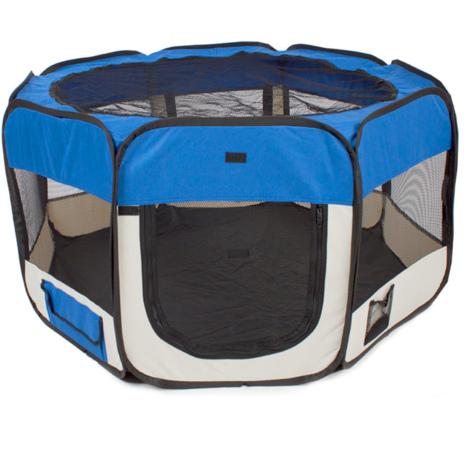 Faltbare Abnehmbar Tierlaufstall Laufstall für Haustiere Schwarz