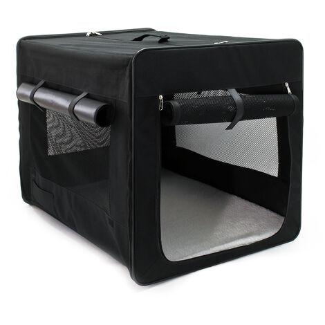 Faltbare Transportbox für Haustiere, Größe XL (94x66x74 cm), mit herausnehmbarem Einlagekissen