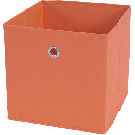 Faltbox HHG-799, Aufbewahrungsbox Ordnungsbox, Stoff/Textil 28x28x28cm