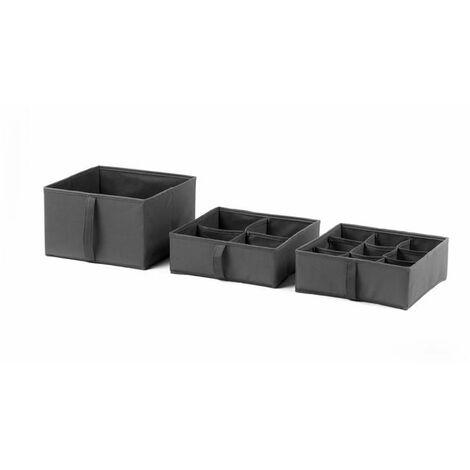 Faltbox Trennfächer Schubfächer Aufbewahrungsbox 3er Set Organizer Kleinteile