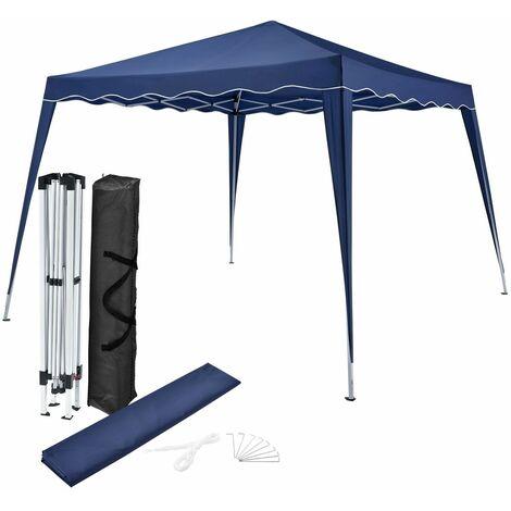 Faltpavillon Vivara 3x3 m mit Tasche – Pavillon höhenverstellbar & faltbar – Sonnenschutz mit Polyester Dach & Stahl-Gestell – blau | ArtLife