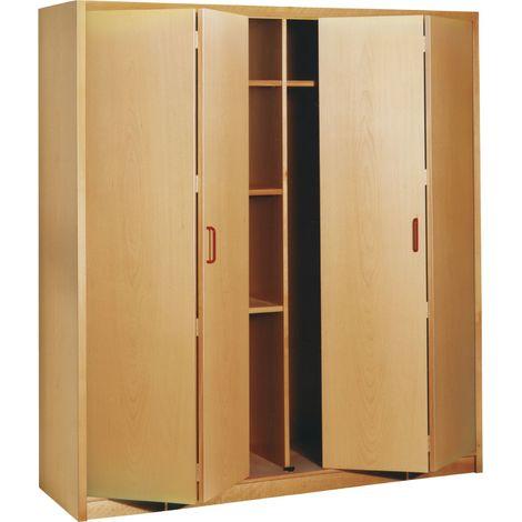Faltschiebetür-Beschlag Tragkraft 30kg | Schiebetür-Beschlag für 1 Falttür mit 2 Flügeln | Verwendung links oder rechts