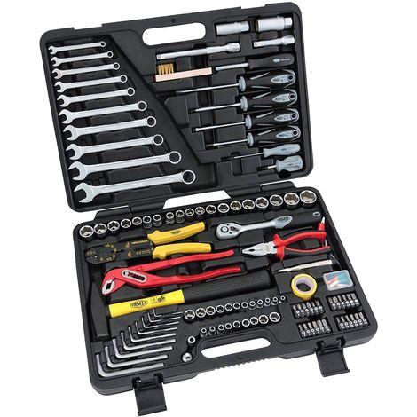 FAMEX 140-38 Coffret Outillage, Malette à outils, Boite à outils, caisse à outils à main
