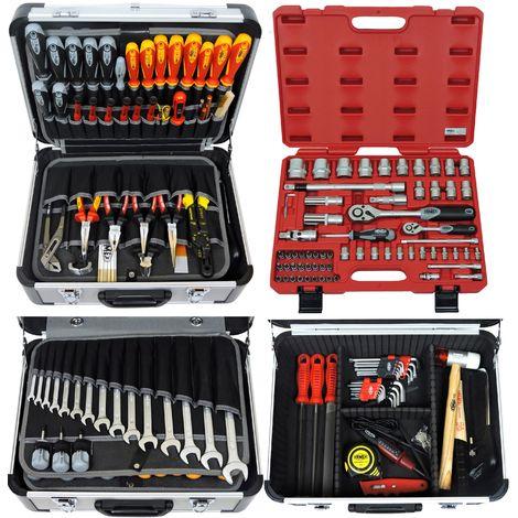 FAMEX 418-20 Caisse à outils professionnels, boite à outils, malette à outils à main, coffret d'outillage