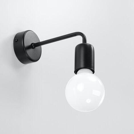gold Wandlampe Wandleuchte Searchlight Industrie-Look 6302BK Vintage schwarz