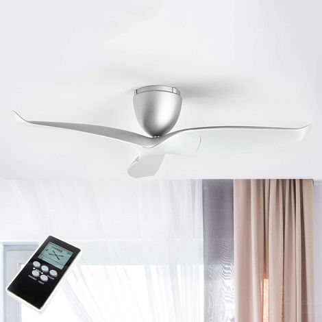 "Fan ""Aeratron"" with remote control (modern) in Silver made of Aluminium from Aeratron"