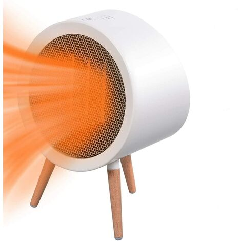 """main image of """"Fan Heater, 800W Mobile Heater Fan, Mini Portable Ceramic 3 Mode Electric Heater, Full Touch Buttons and Timer Function for Living Room Bedroom Office"""""""