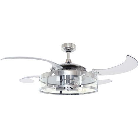 Fanaway Classic - Chrom /LED Beleuchtung / ausfahrbare Flügel 121 cm