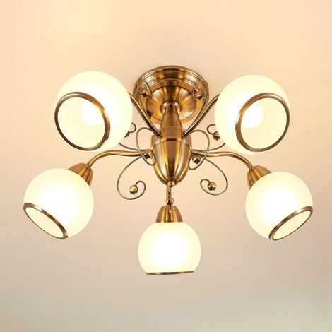 Fantastic ceiling light Corentin, antique brass