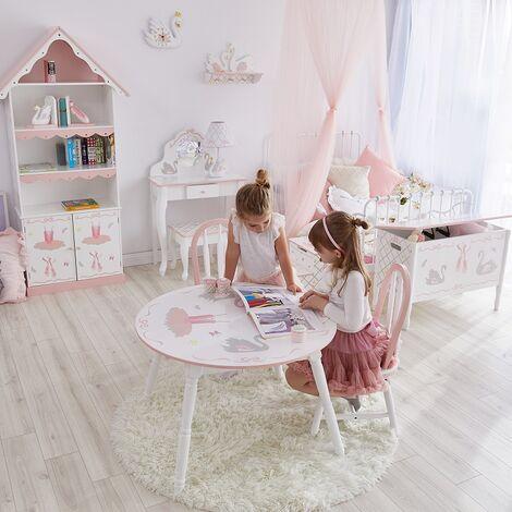 Fantasy Fields 2 chaises enfant Swan Lake en bois pour fille bébé TD-12718A2